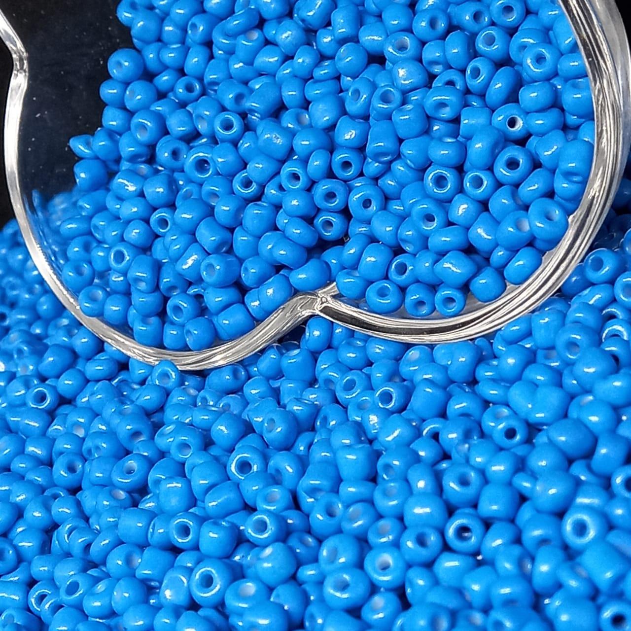 Miçangão Azul Neon 4.1mm (6/0)  25g