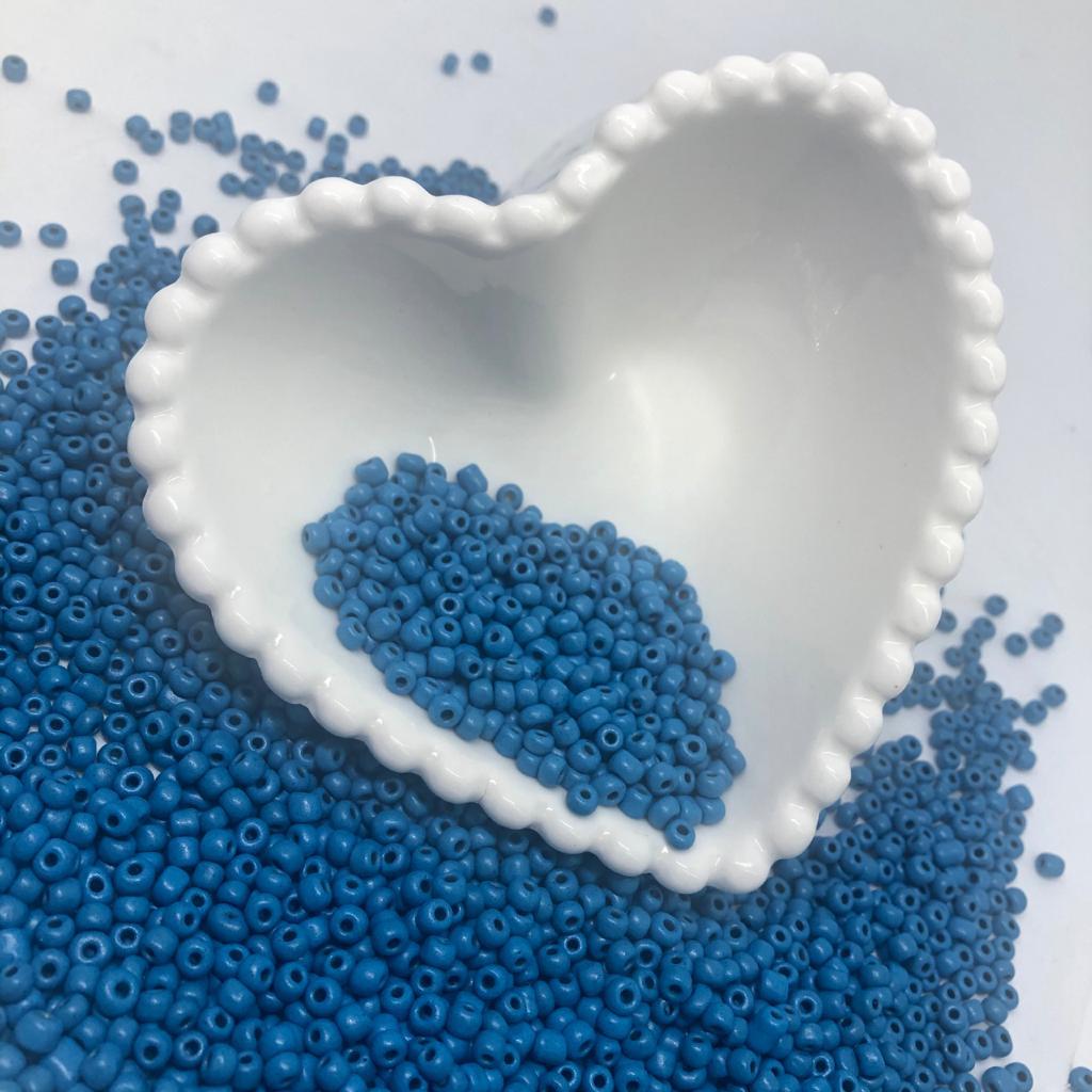 Miçangão Azul Neon 4.1mm (6/0)  25g  - Palácio Dos Cristais