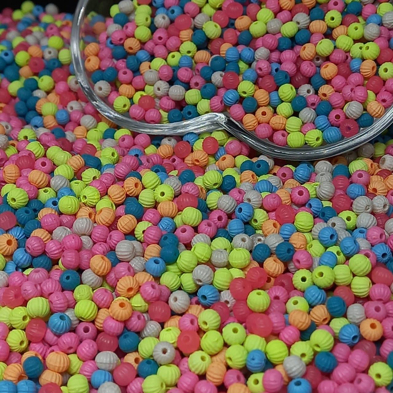 Miçangão multicolor facetada  (5771) 4.1mm (6/0) 10g