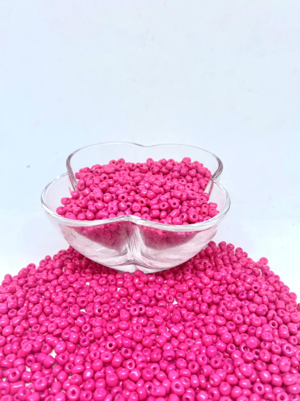 Miçangão rosa 4.1mm (6/0) 25g