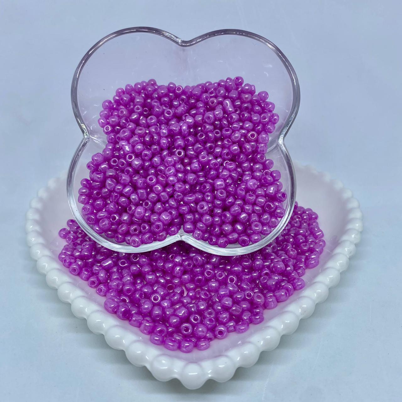 Miçangão rosa espelhado  6/0
