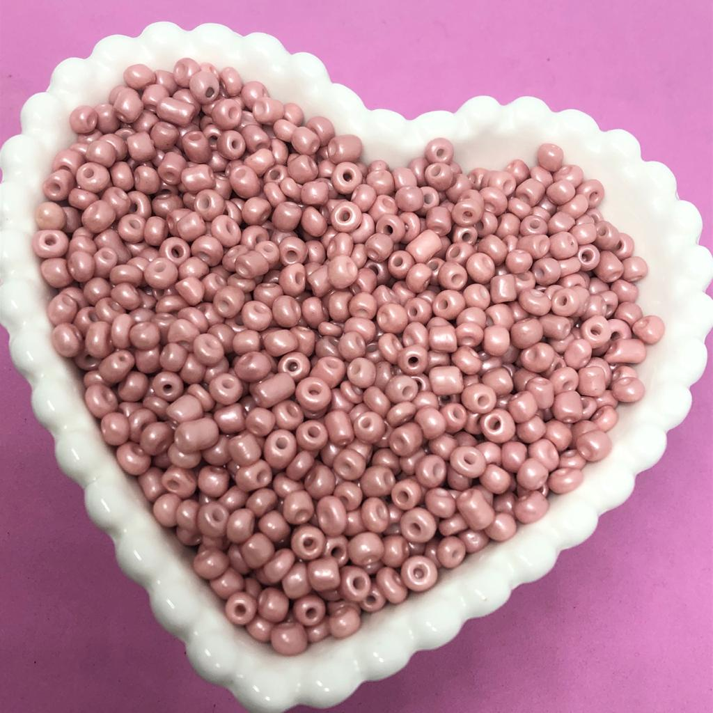 Miçangão rosa mude 4.1mm (6/0)  25g