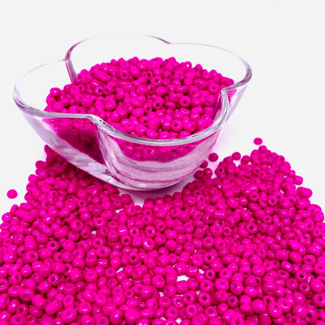 Miçangão rosa pink 4.1mm (6/0) 25g