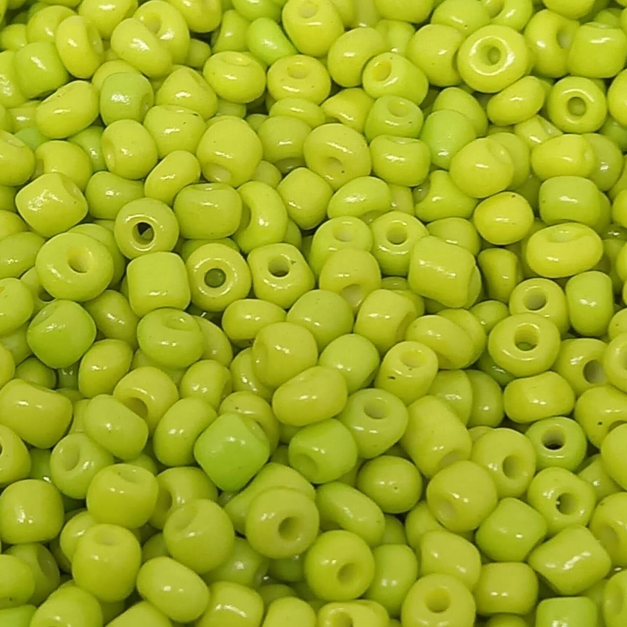 Miçangão verde neon 4.1mm (6/0)  25g