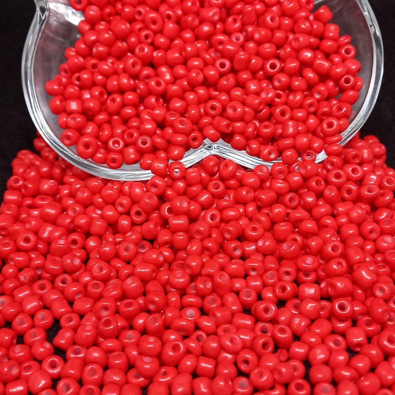 Miçangão vermelho vivo  4.1mm (6/0)  25g