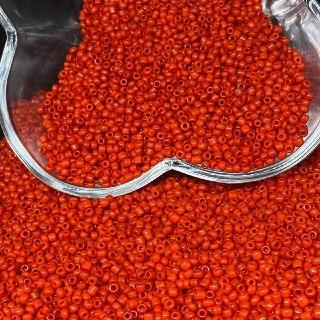 Miçanguinha vermelho opaco  1.9mm (12/0) 25g