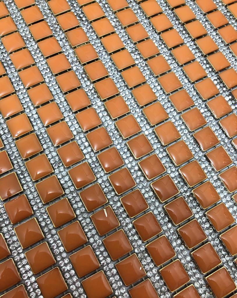 Micro Manta de strass 23x35cm unidade 4953