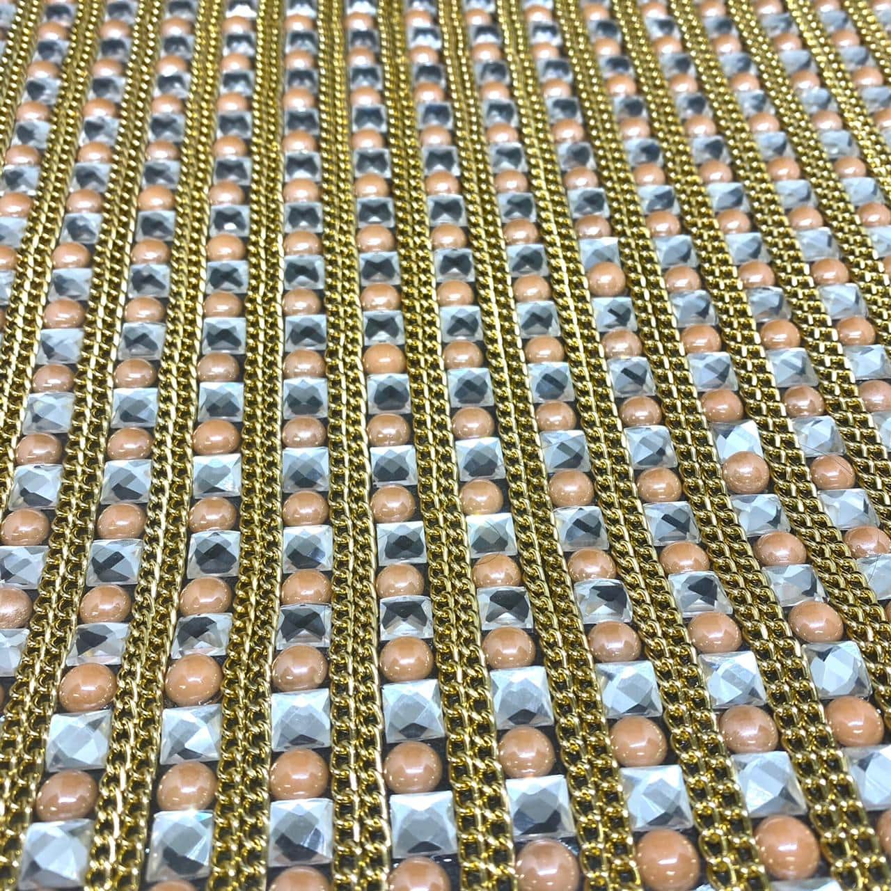 Micro Manta de strass 23x35cm unidade 4961