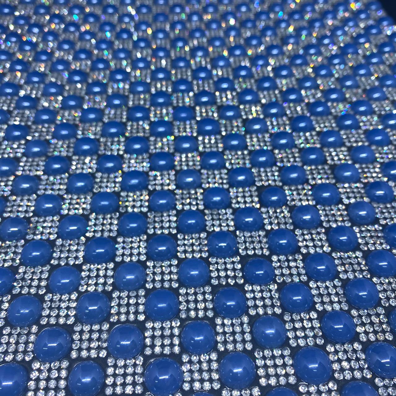 Micro Manta de strass 23x35cm unidade 4963