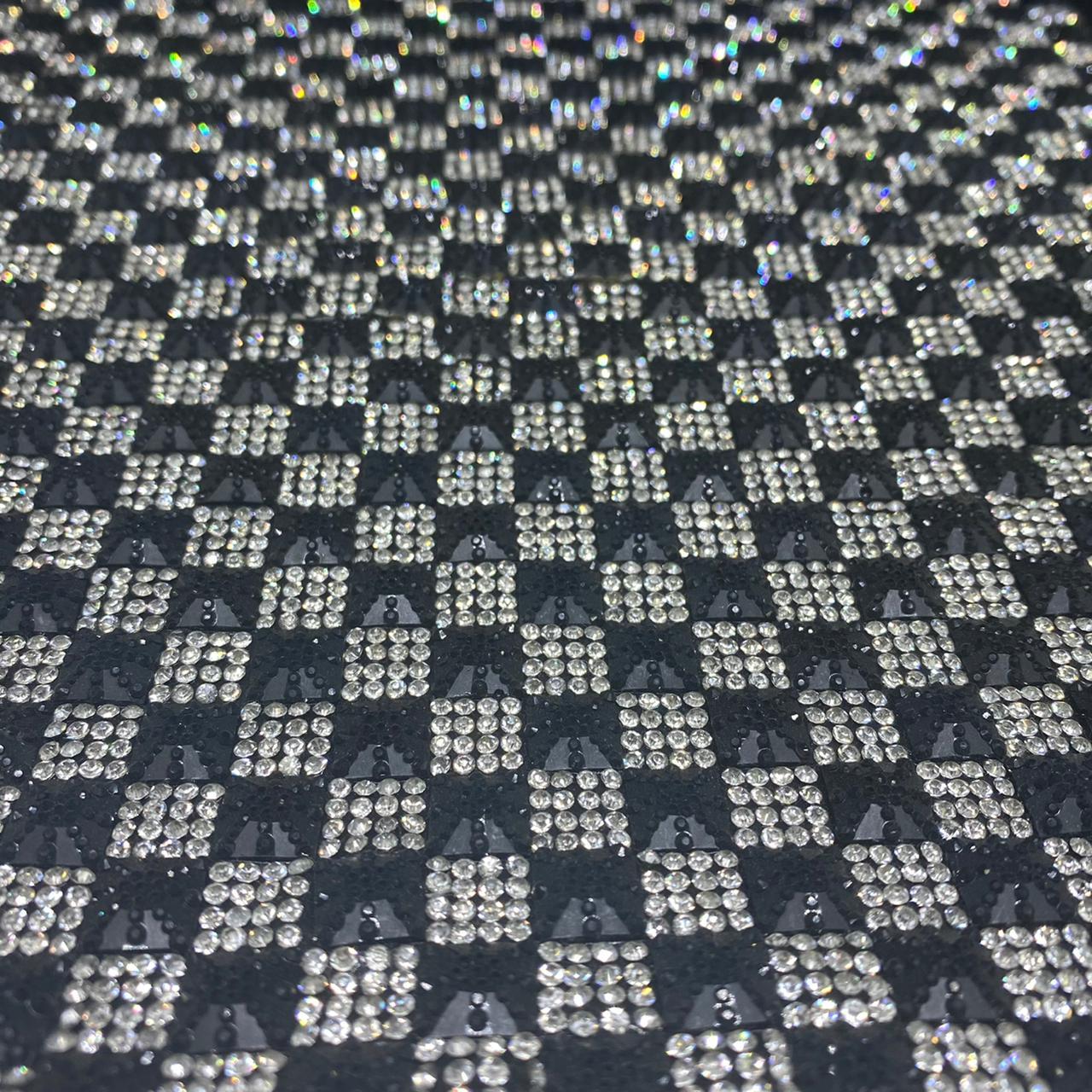 Micro Manta de strass 23x35cm unidade 4965