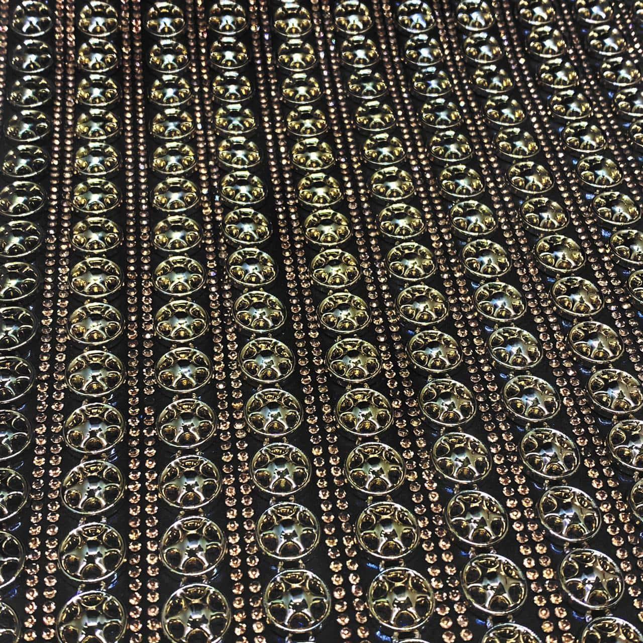 Micro Manta de strass 23x35cm unidade 4969