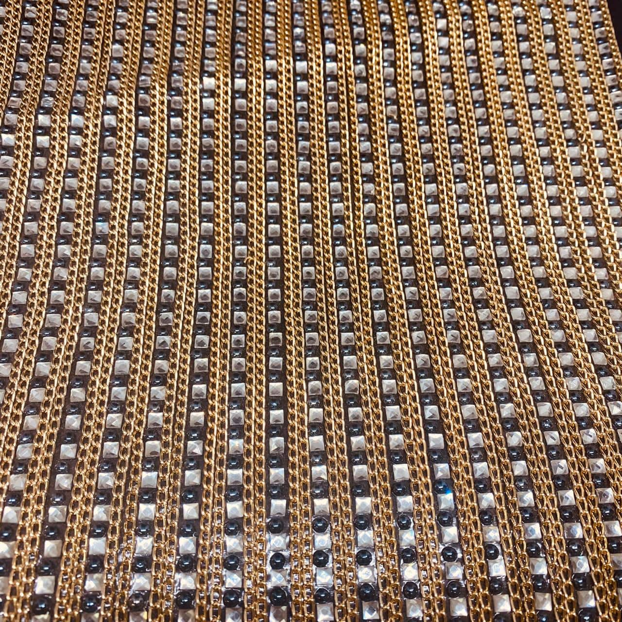 Micro Manta de strass 23x35cm unidade 4975