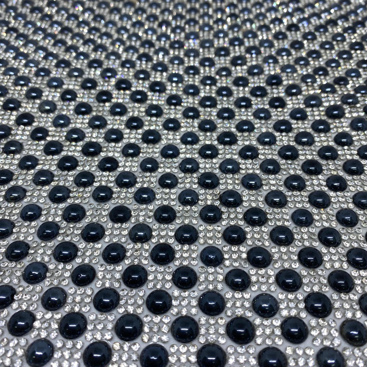 Micro Manta de strass 23x35cm unidade 5021