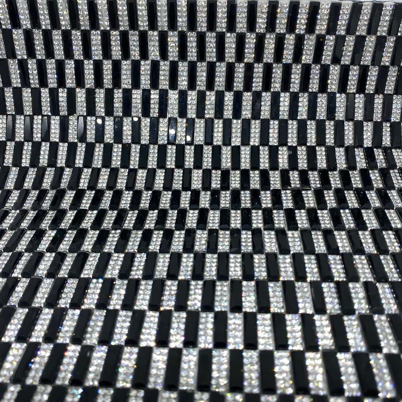 Micro Manta de strass 23x35cm unidade 5031
