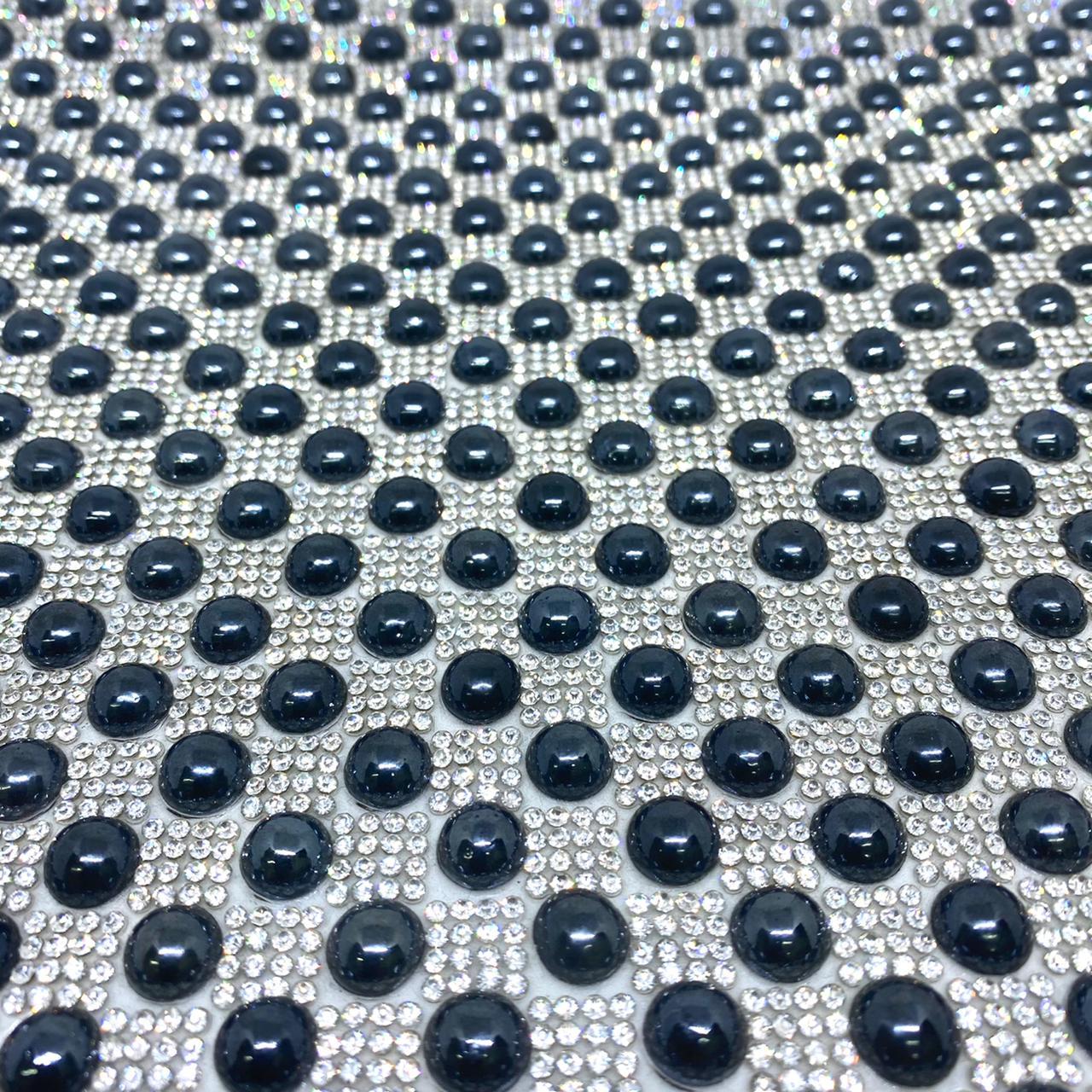 Micro Manta de strass 23x35cm unidade 5041