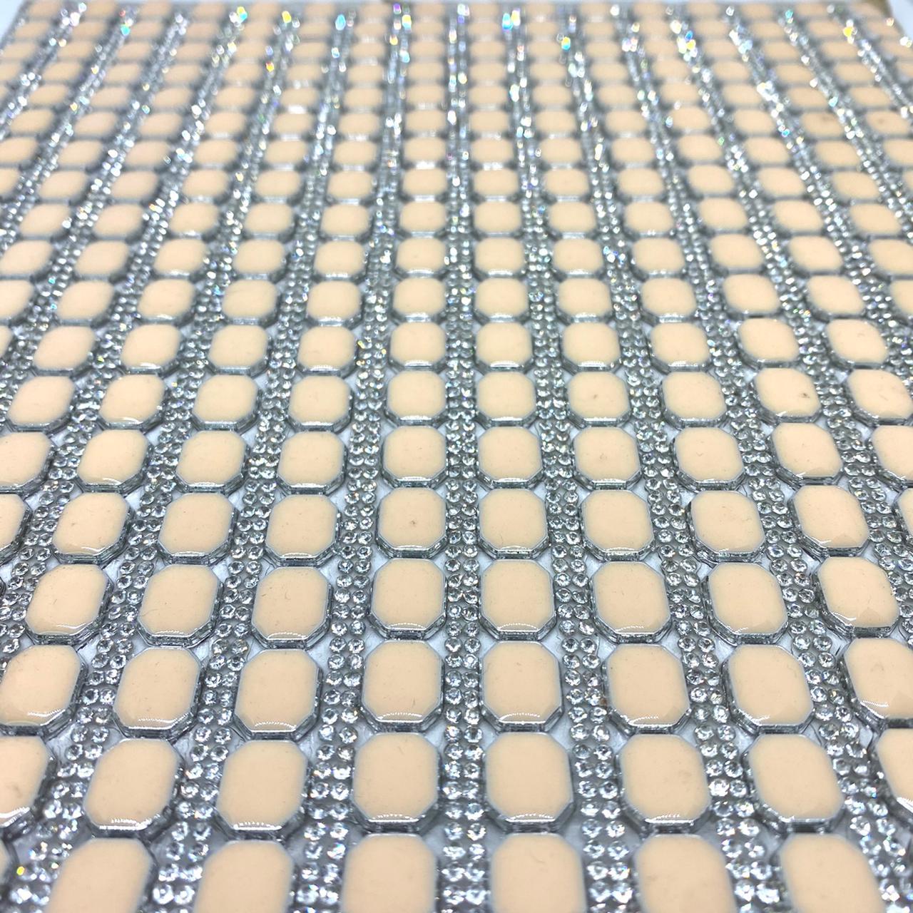 Micro Manta de strass 23x35cm unidade  5049