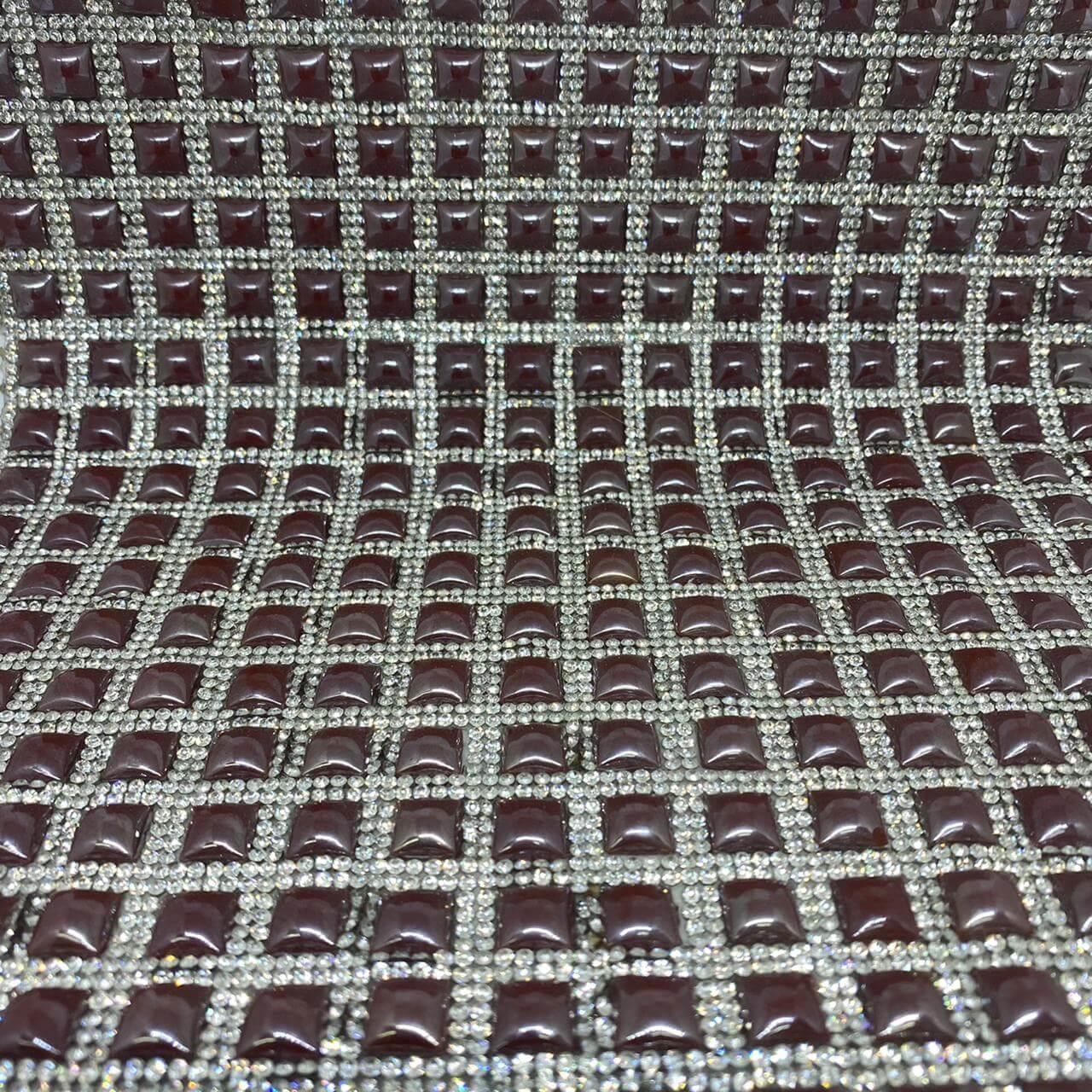 Micro Manta de strass 23x35cm unidade 5055