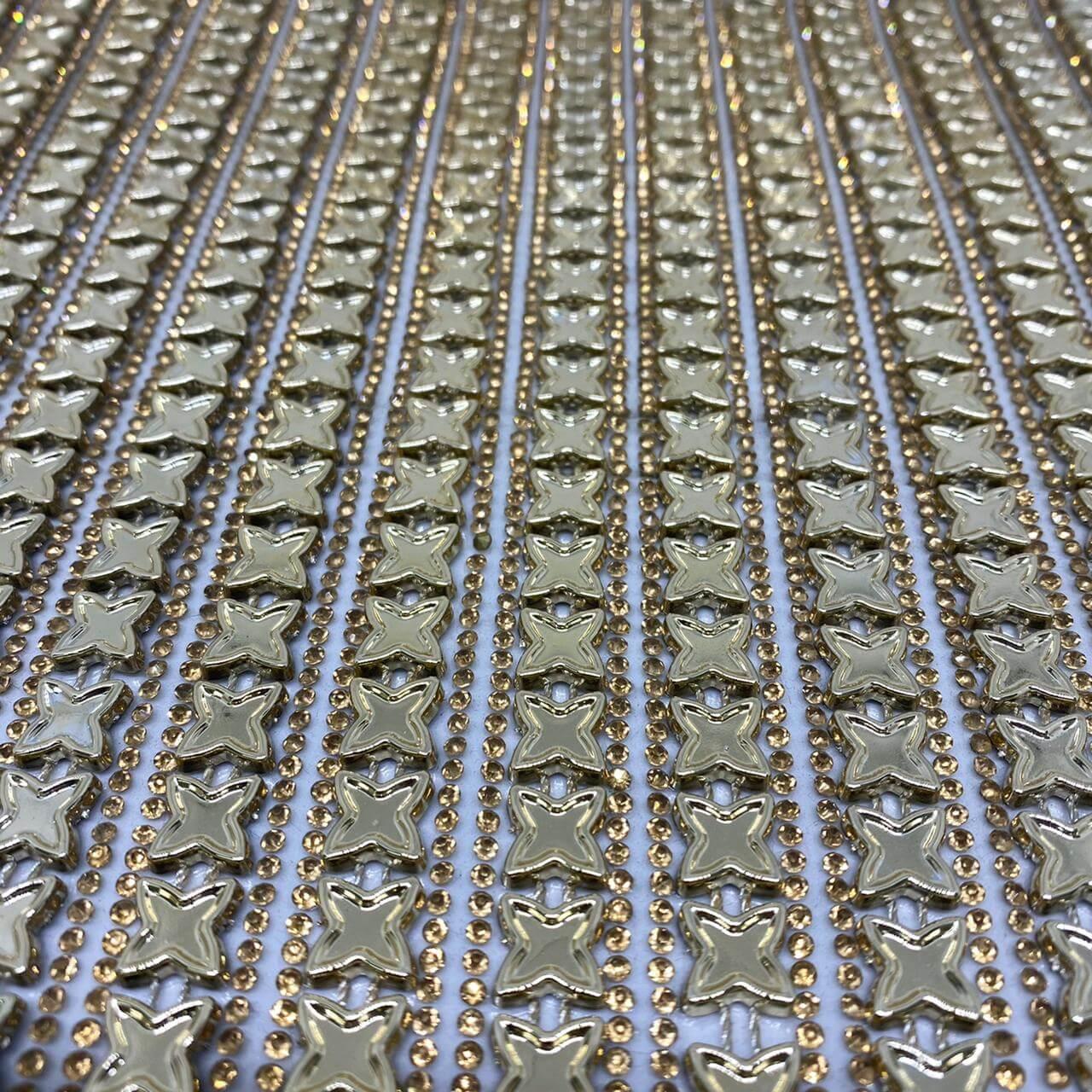 Micro Manta de strass 23x35cm unidade 5059