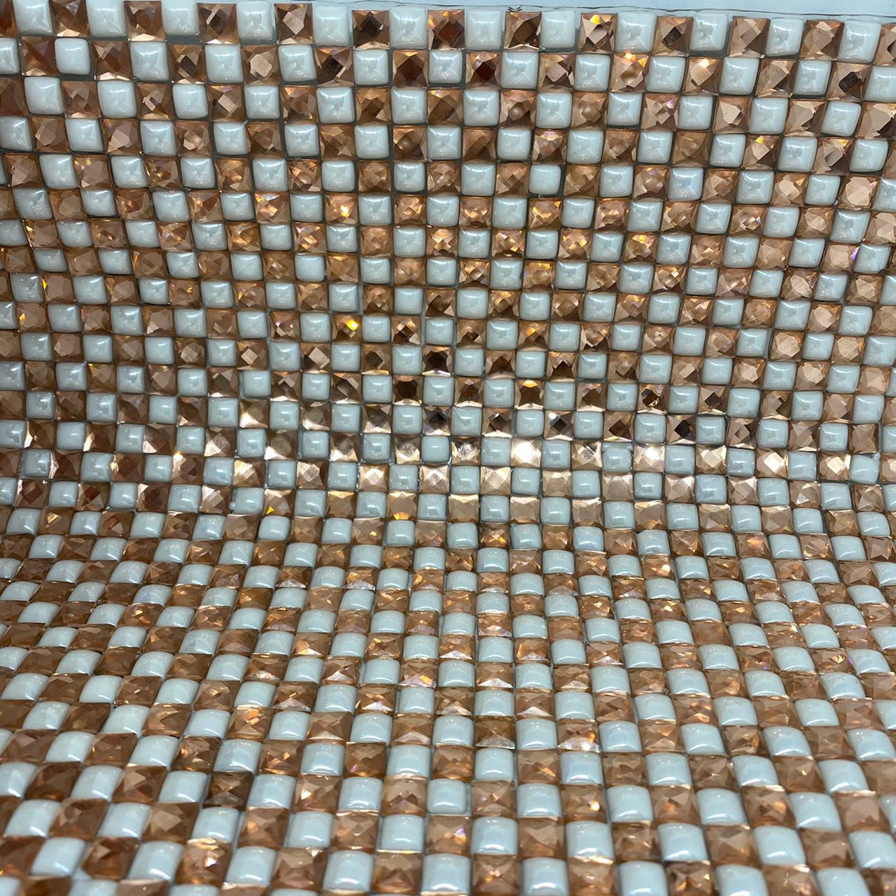Micro Manta de strass 23x35cm unidade 5061