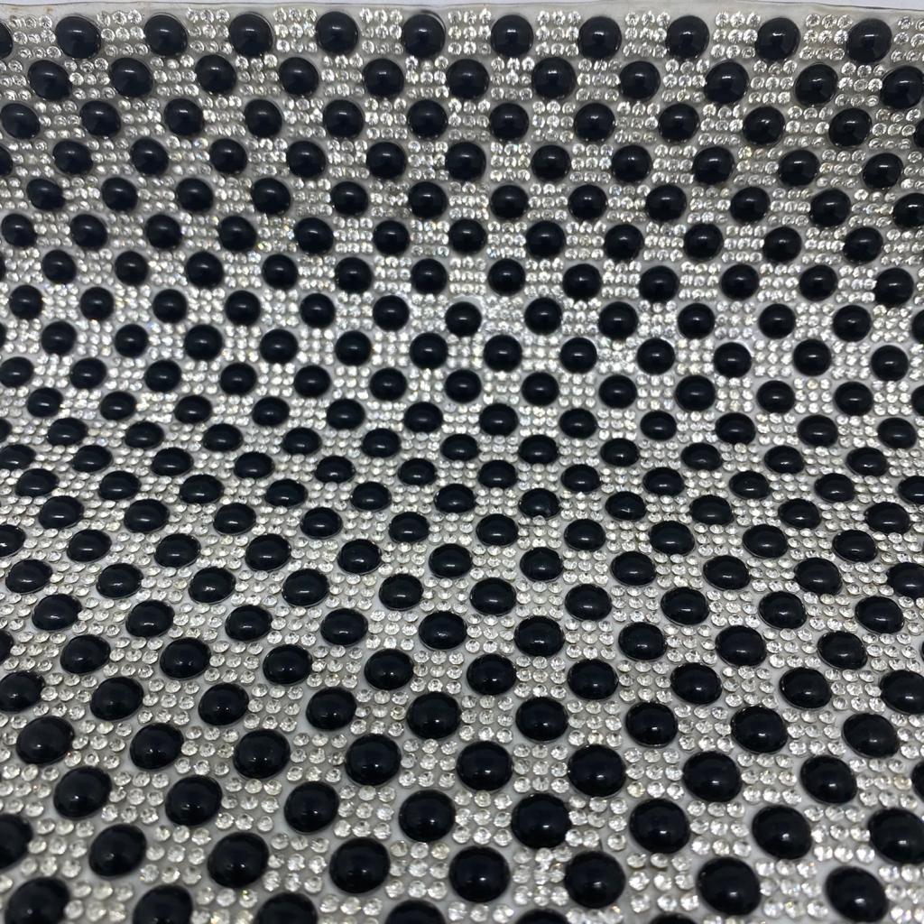 Micro Manta de strass 23x35cm unidade 5063