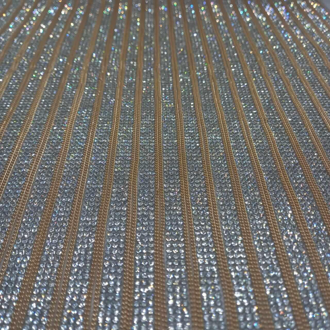 Micro Manta de strass 23x35cm unidade 5075