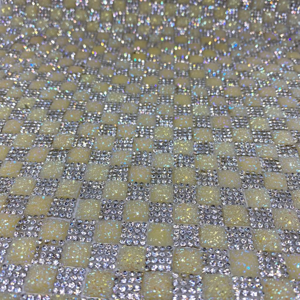Micro Manta de strass 23x35cm unidade 5077