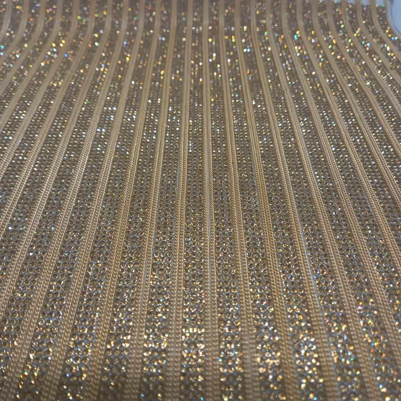 Micro Manta de strass 23x35cm unidade 5081