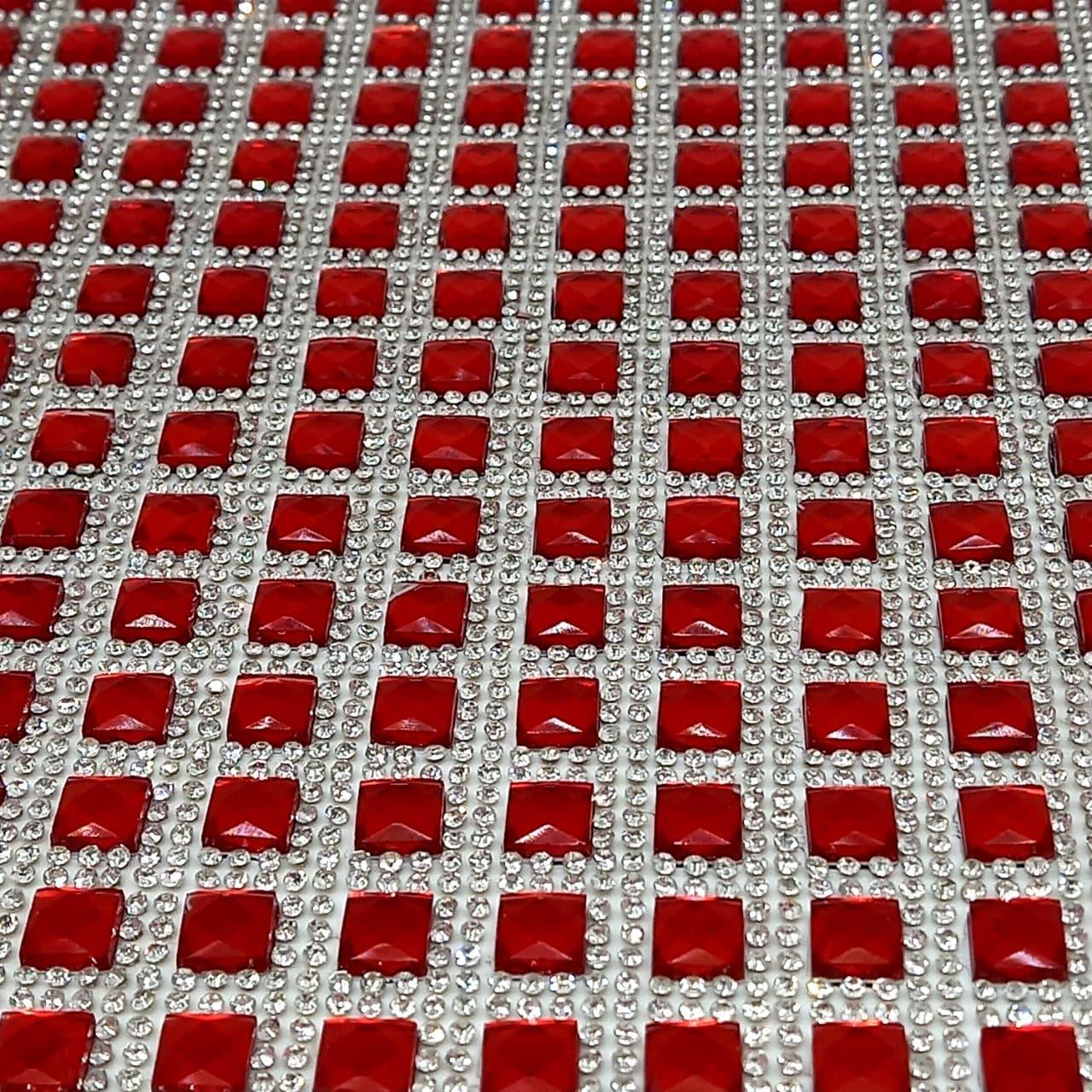 Micro Manta de strass 23x40cm unidade 01