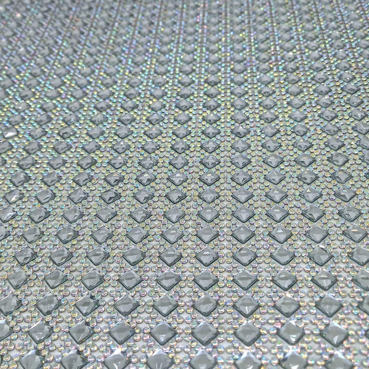 Micro Manta de strass 23x40cm unidade 07