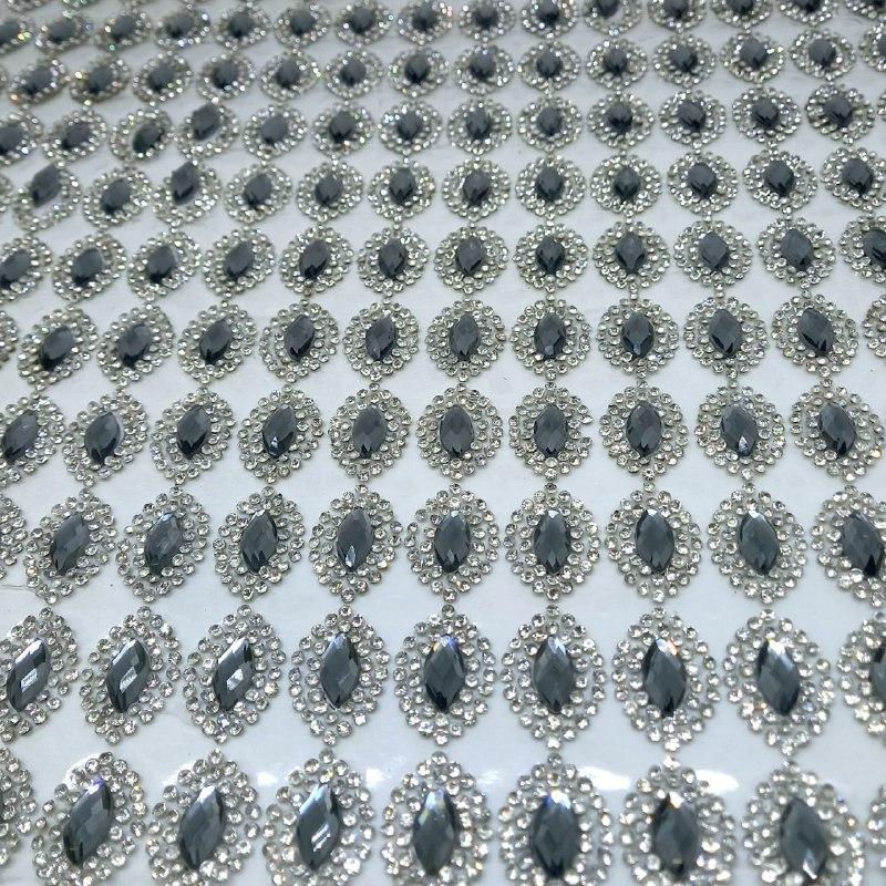 Micro Manta de strass 23x40cm unidade 25