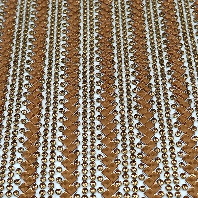 Micro Manta de strass 23x40cm unidade 38