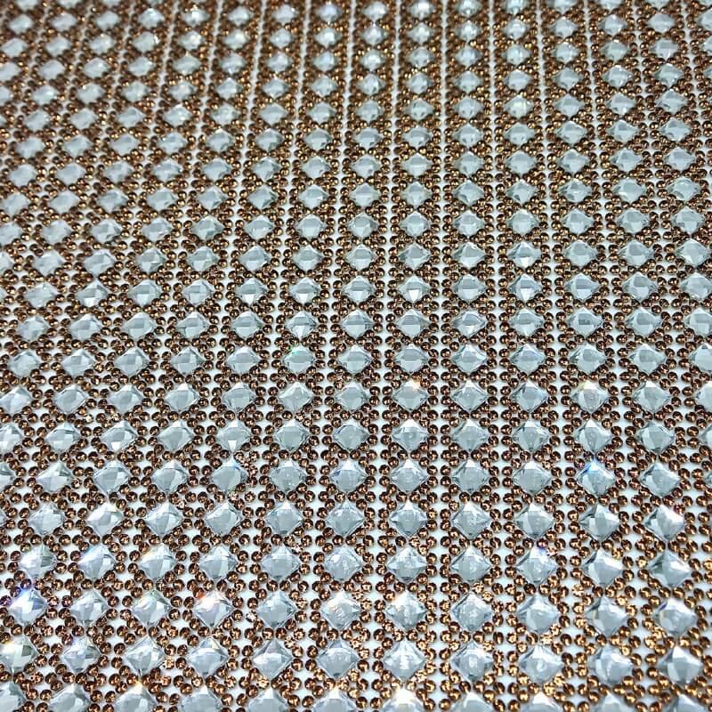 Micro Manta de strass 23x40cm unidade 49