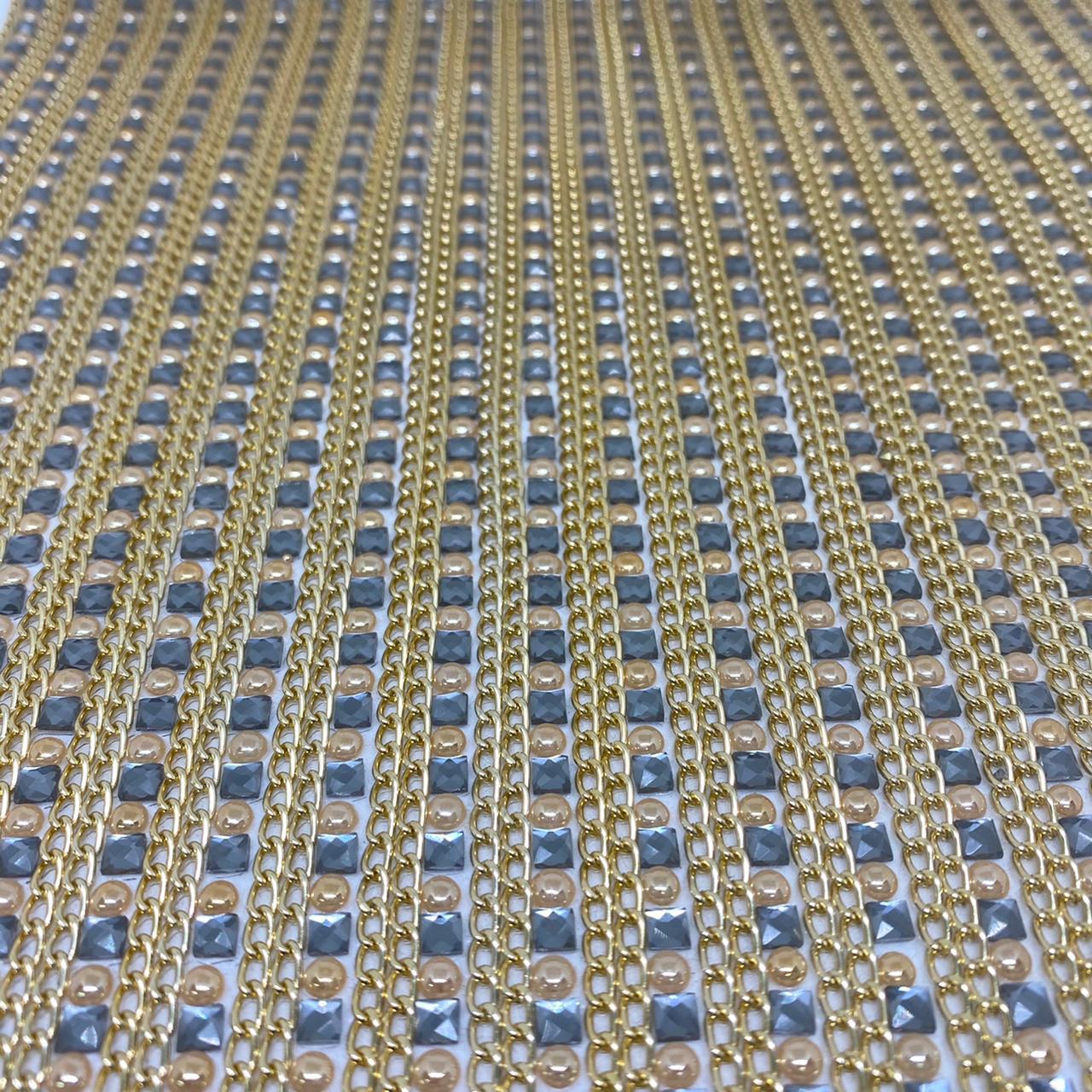 Micro Manta de strass 23x40cm unidade 5119