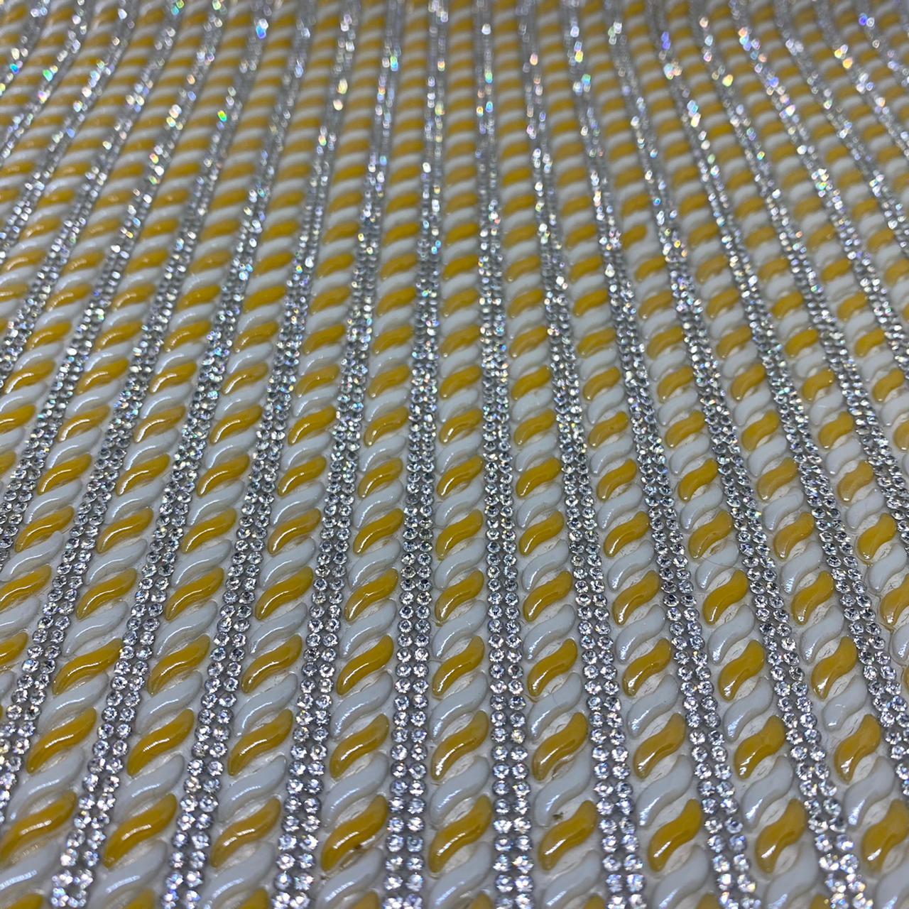 Micro Manta de strass 24x40cm unidade 5083