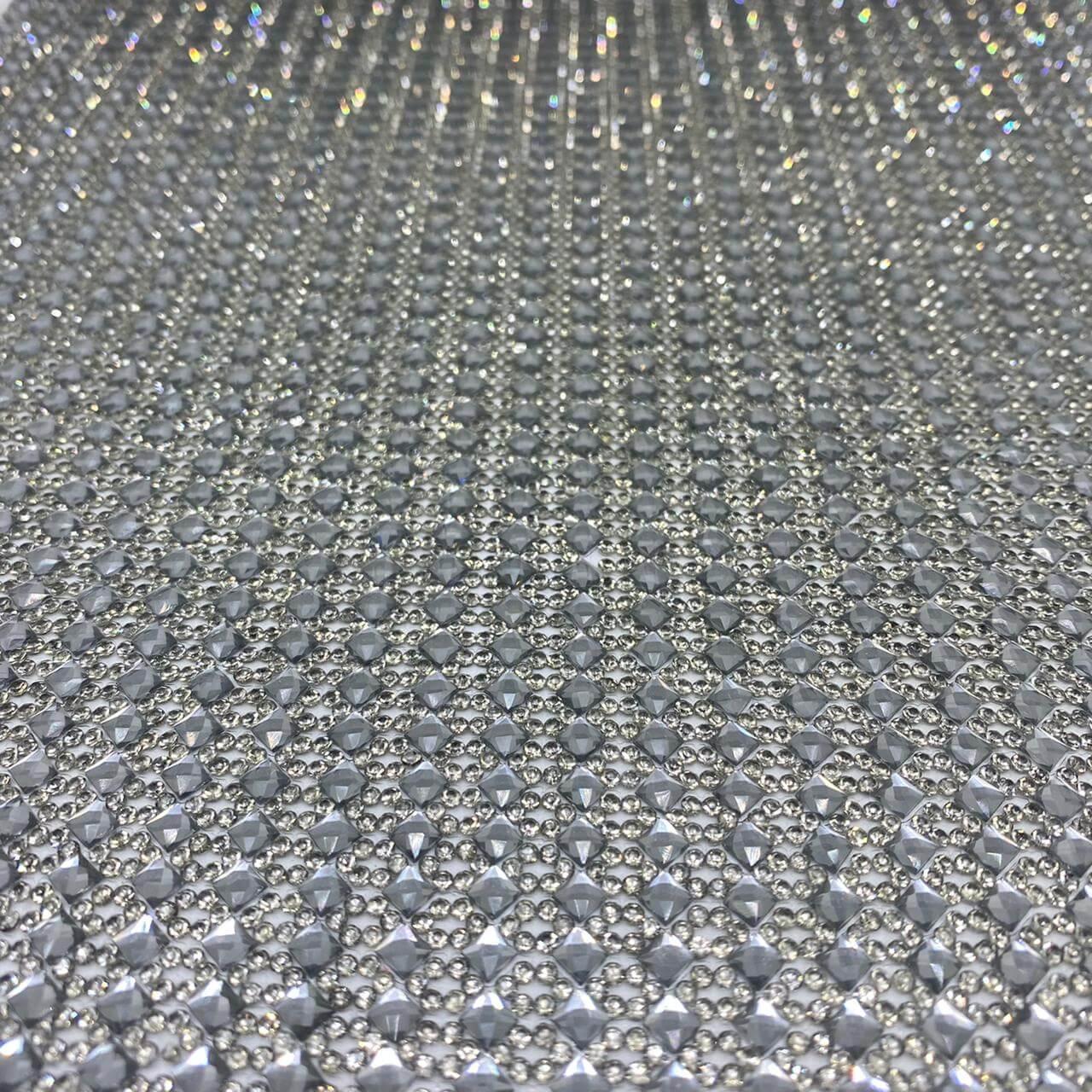 Micro Manta de strass 24x40cm unidade 5087