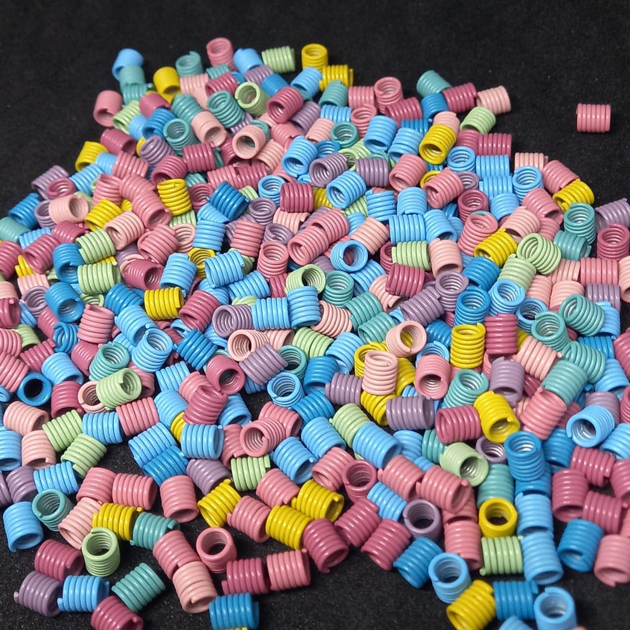 Mola  para óculos 7 voltas multicolor 6mm / 30 unidade