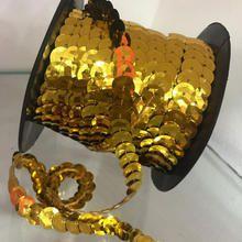 Paetê em Metro 10mm Dourado