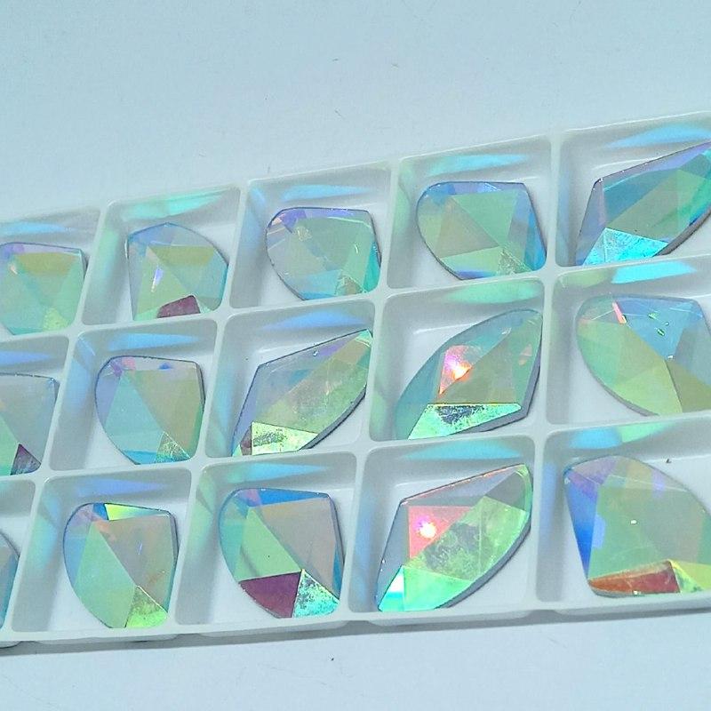 Pedra de vidro galac AB 16.5X27mm/ unidade