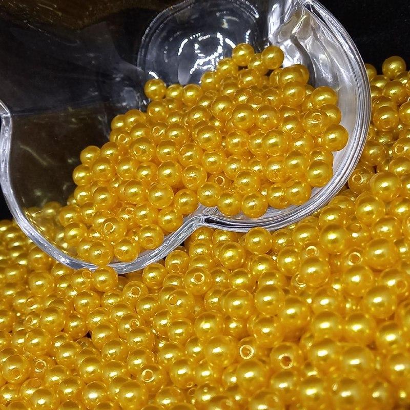 Perola amarelo ouro  6mm - 25g