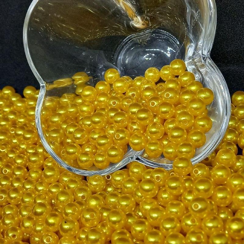 Perola amarelo ouro  8mm - 25g