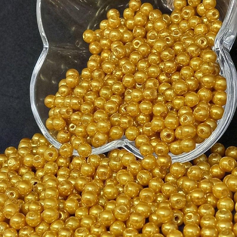 Perola dourada claro  6mm - 25g