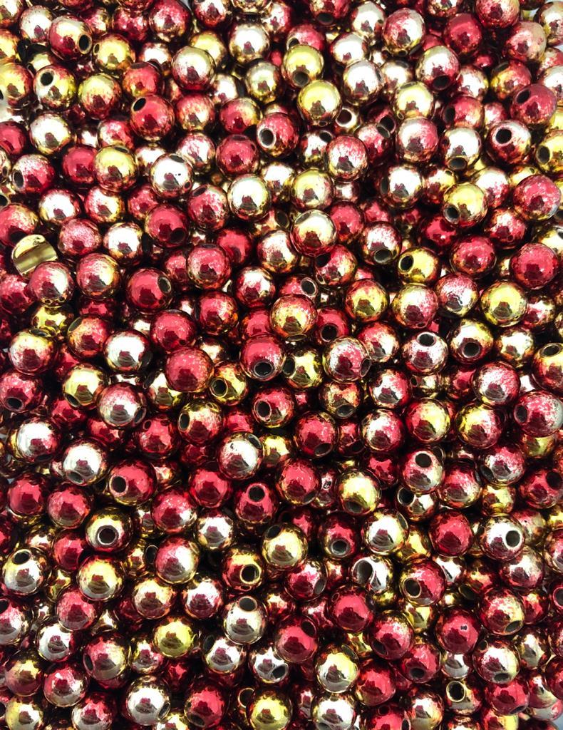 Perola vermelho, dourado e amarelo 6mm - 25g