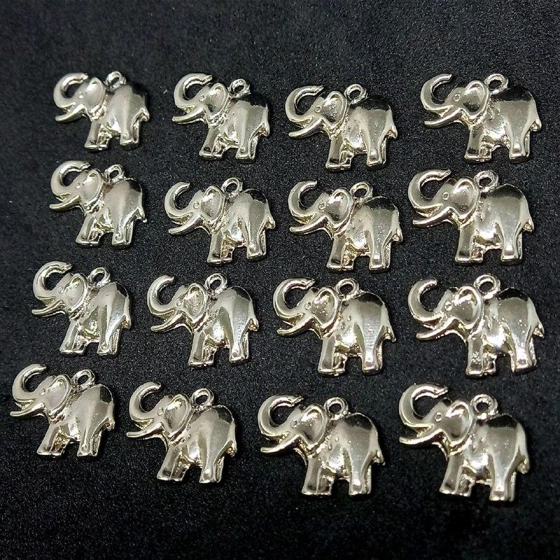 Pingente elefante prata 15x19mm /unidade