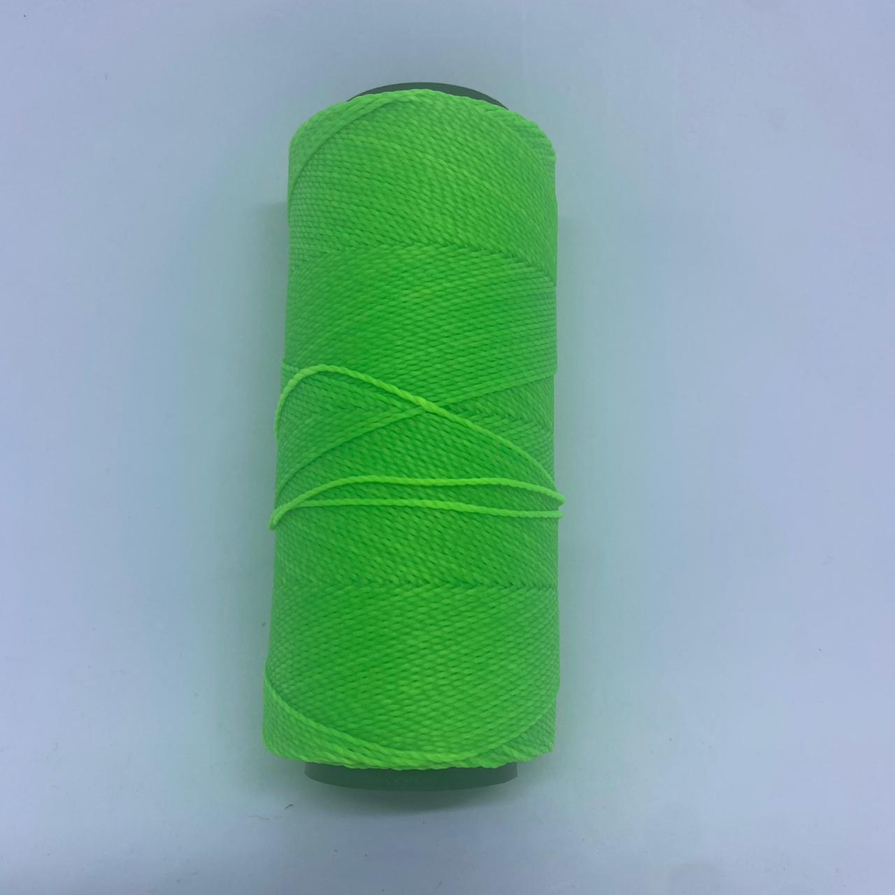 Rolo linha encerado verde limão  c/ 160 Metros