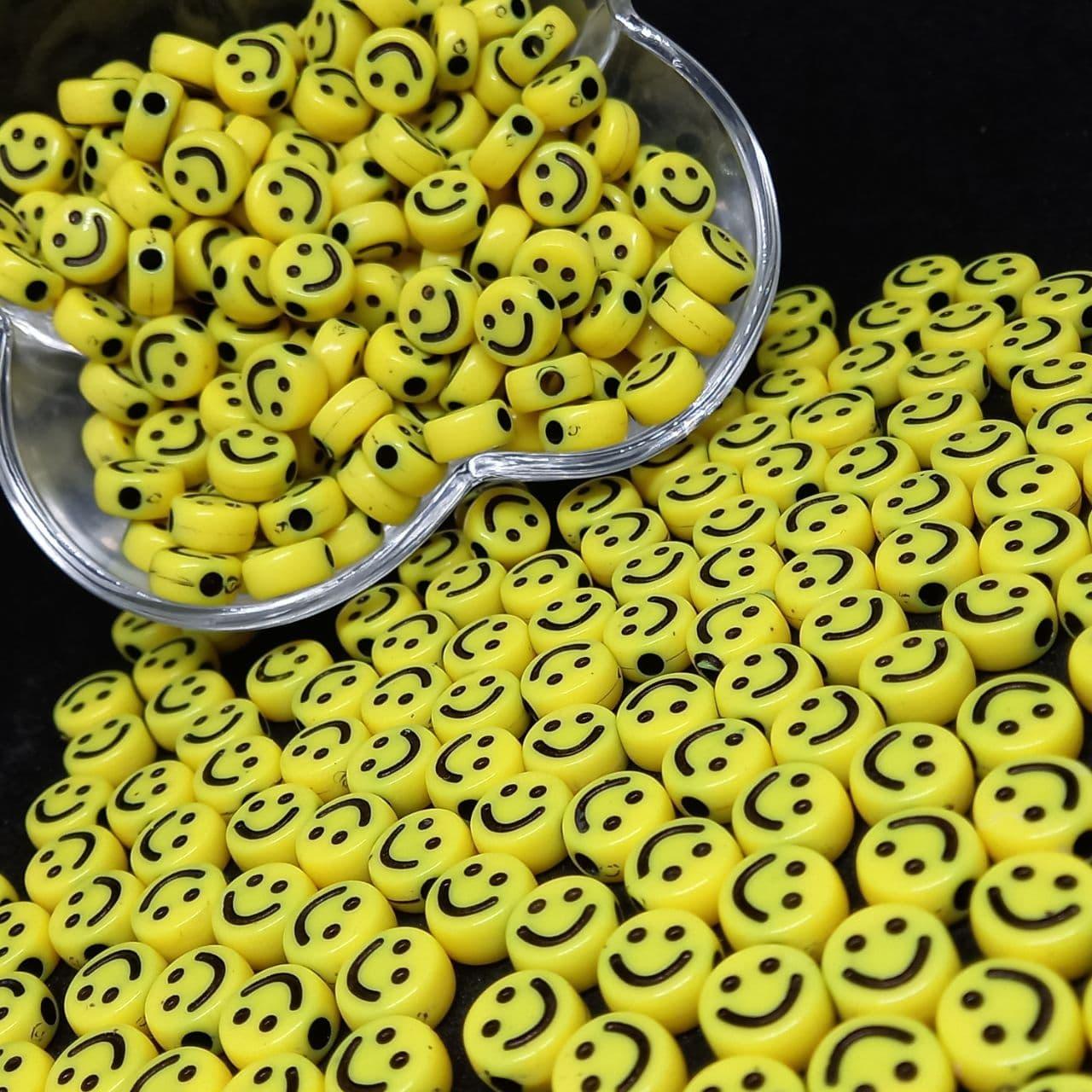 Rostinho feliz amarelo 6x10mm - 25g
