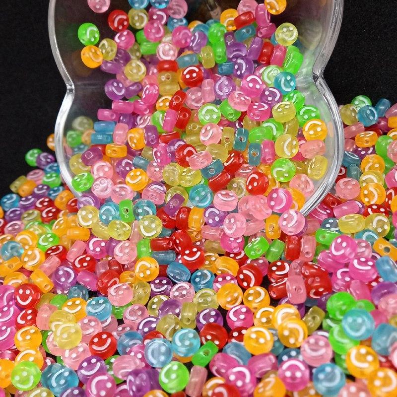 Rostinho feliz transparente multicolor  4x7mm 25g