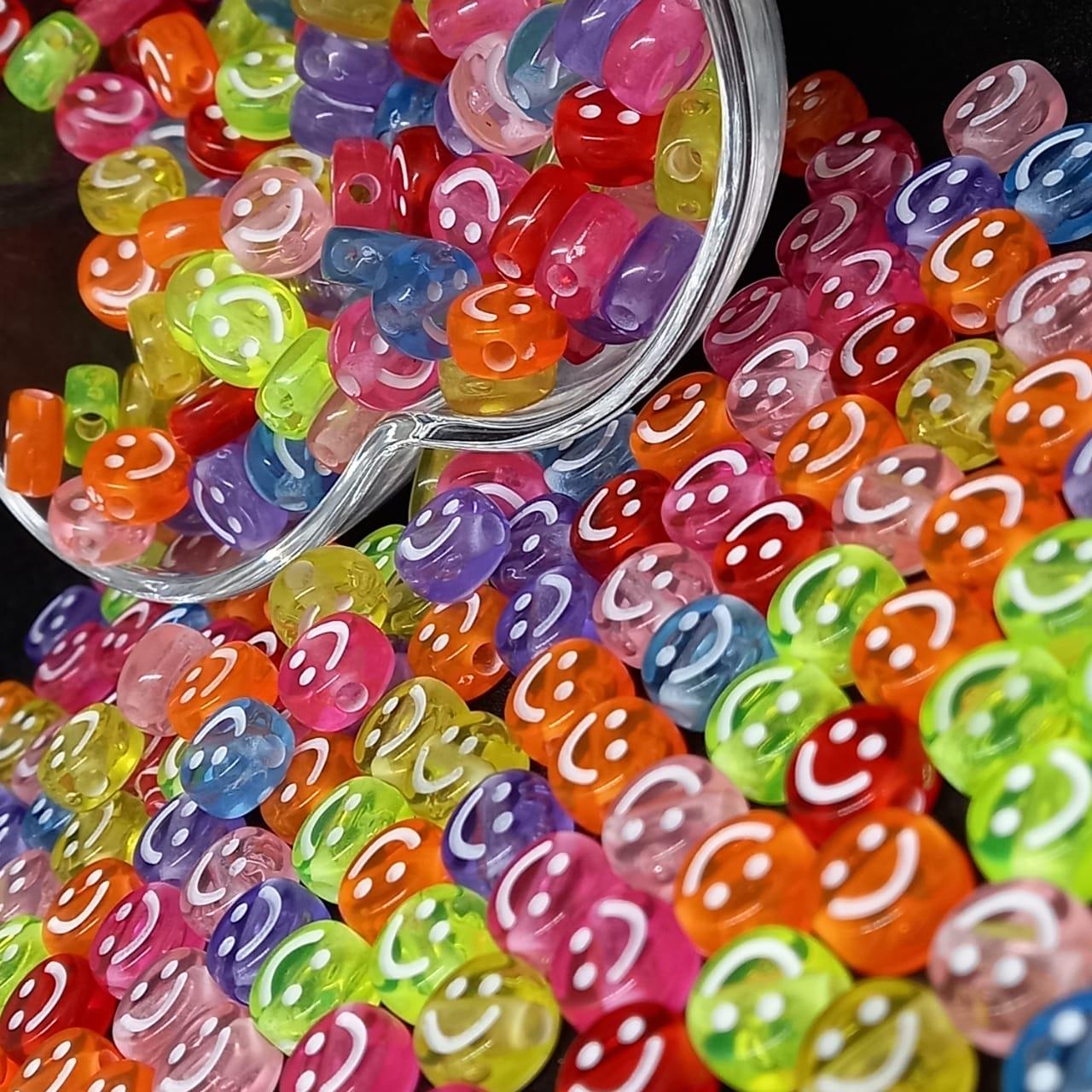 Rostinho feliz transparente multicolor   9mm 25g
