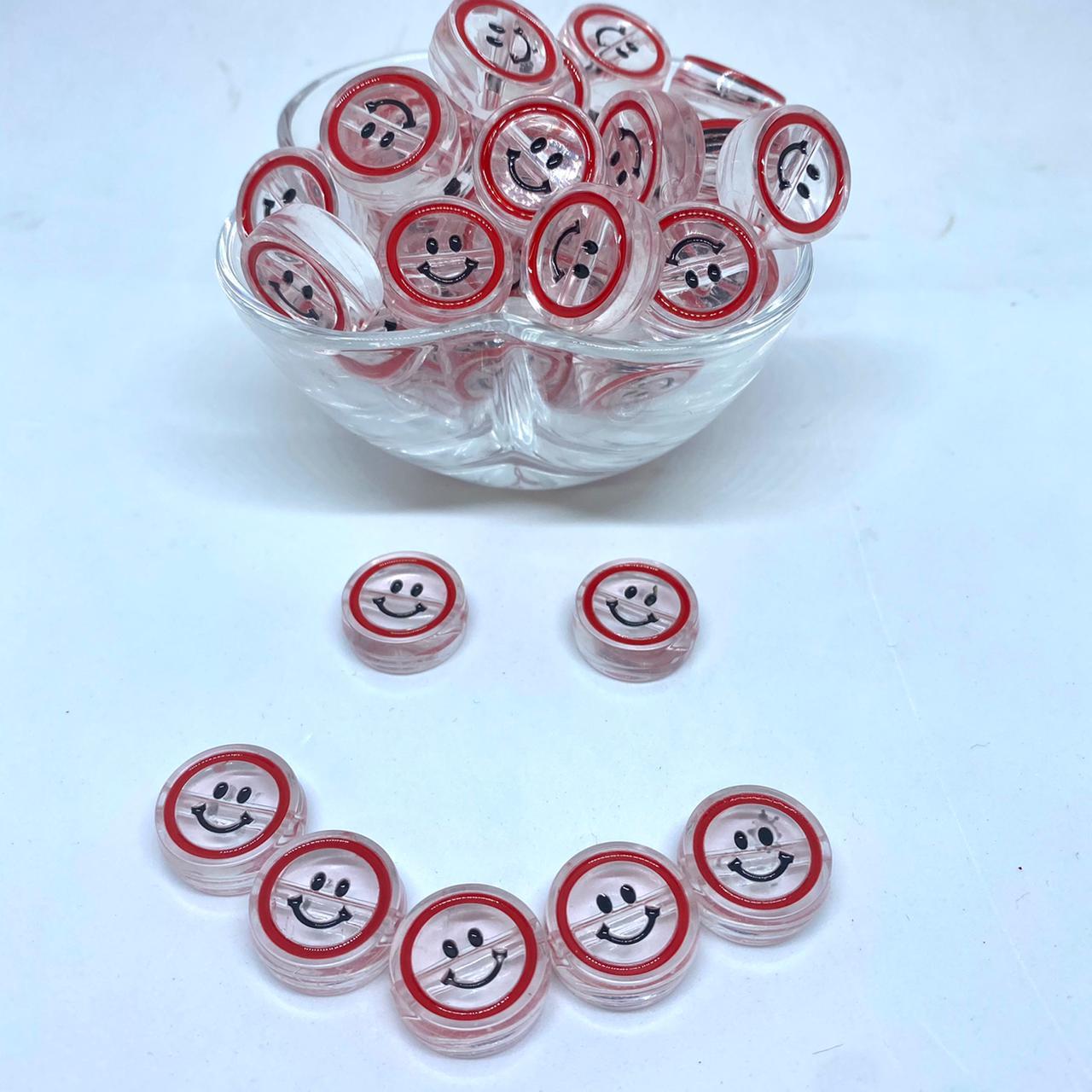 Smile vermelho  20mm / unidade