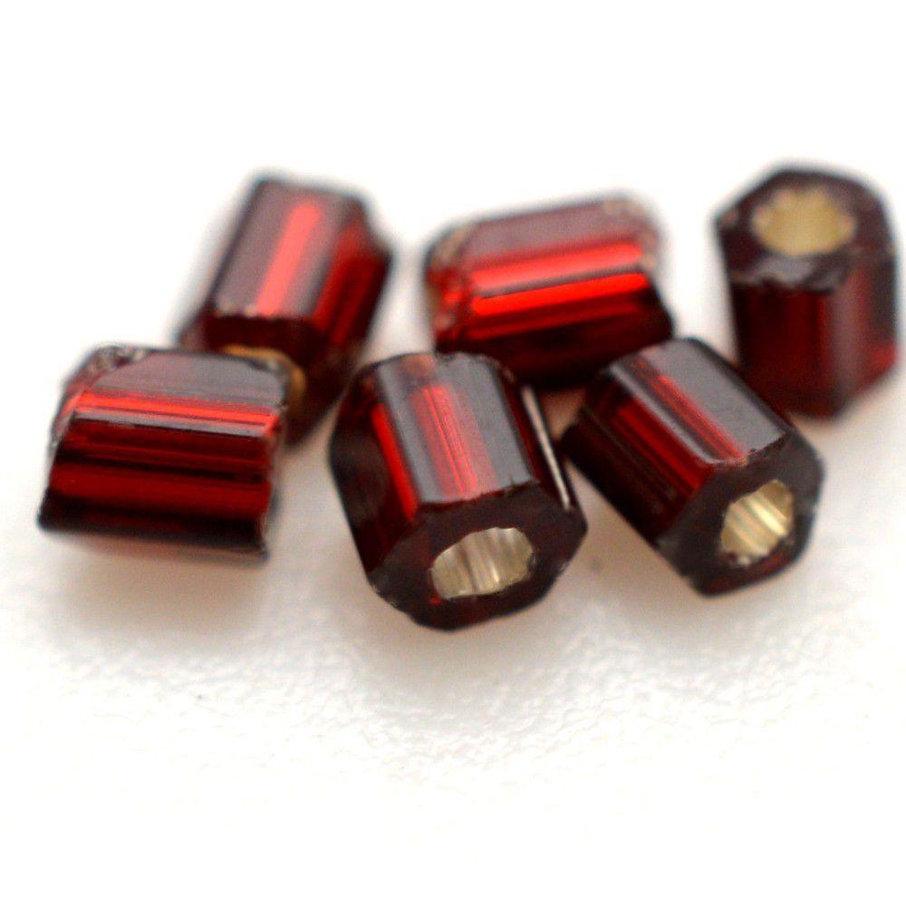Vidrilho Preciosa Cristal Vermelho Escuro Transparente  2x9/0=2,6mm