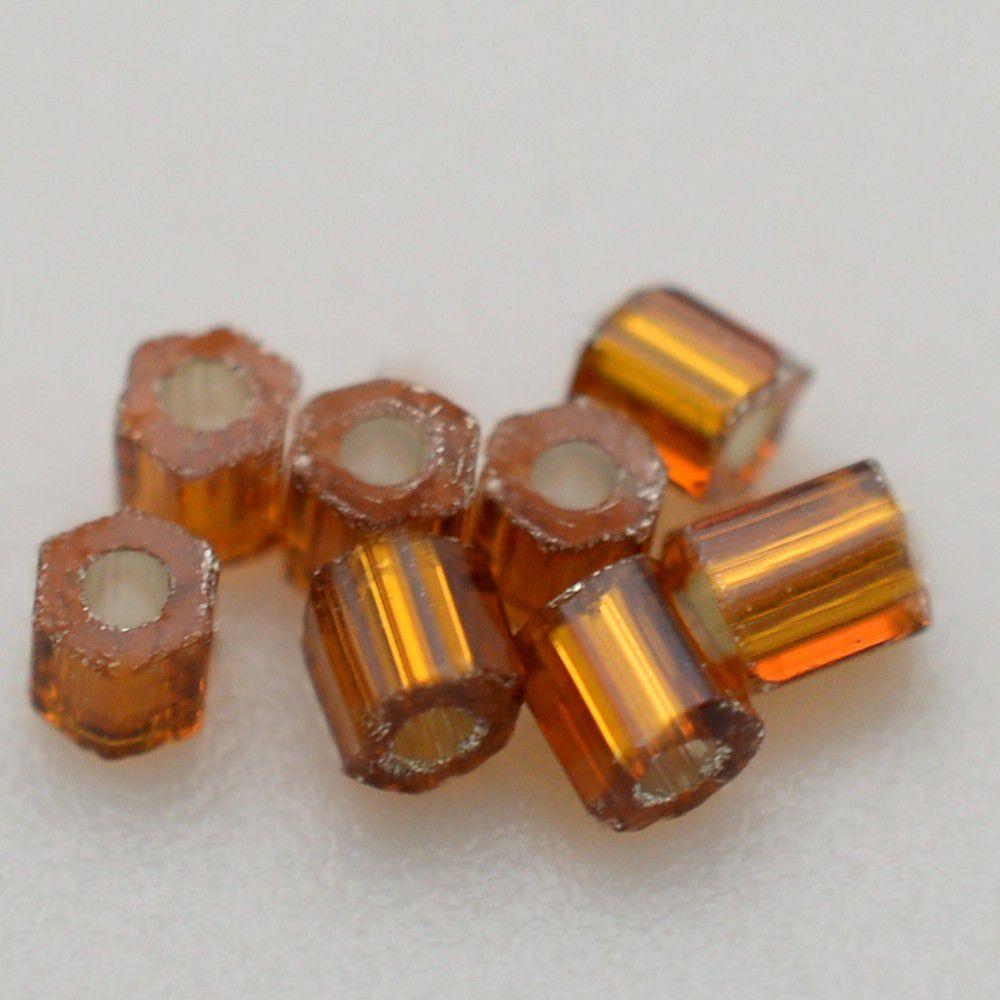 Vidrilhos Jablonex Ouro Velho Transparente  2x9/0=2,6mm